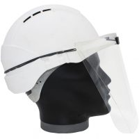 Construction safety visor side